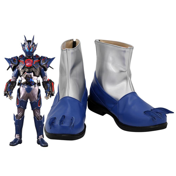 Kamen Rider Vulcan Cosplay Boots Masked Rider Vulcan Leather Shoes Cosplay Custom Made Any Size
