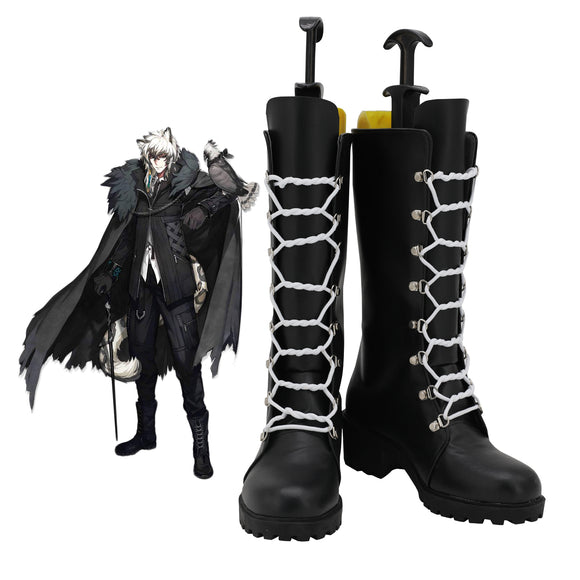 Arknights Sliver Ash Cosplay Boots Black Shoes Custom Made Any Size