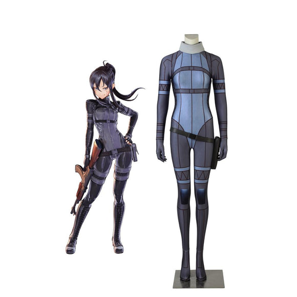 Sword Art Online GGO Pitohui Cosplay Costume SAO Kanzaki Elsa Jumpsuit Cosplay Custom Made