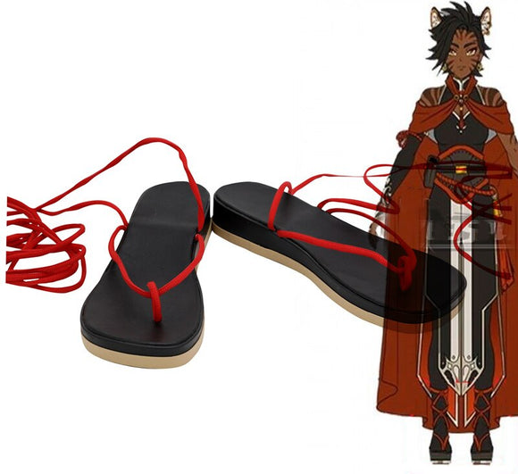 RWBY Sienna Khan Cosplay Shoes Custom Made Sandals Any Size for Unisex