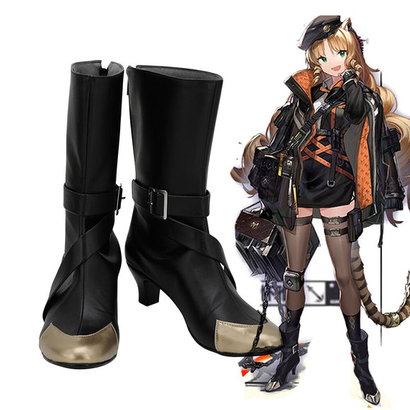 Arknights Swire Cosplay Boots Black Shoes High Heel Custom Made