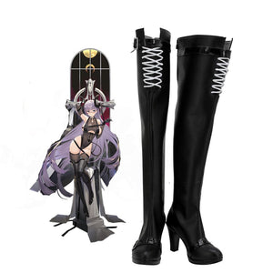 Azur Lane Gneisenau Cosplay Boots Over-Knee High Heel Shoes Custom Made Any Size