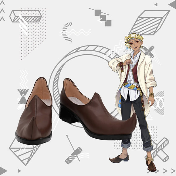 Disney Twisted-Wonderland Kalim Al-Asim Cosplay Shoes Brown Boots