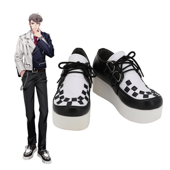 DRB Hitoya Amaguni Shoes Cosplay Hypnosis Mic Division Rap Battle Hitoya Amaguni Cosplay Boots Leather Shoes Custom Made