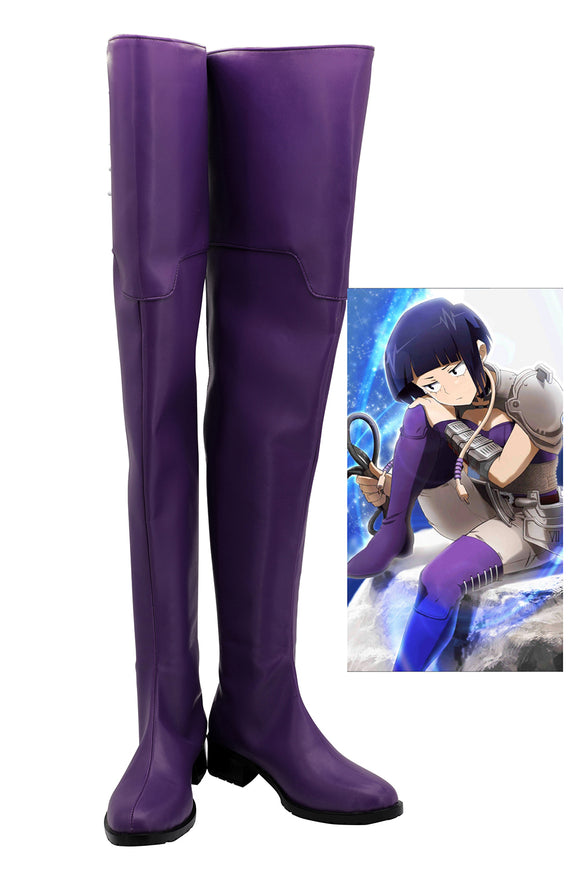 My Hero Academia Kyoka Jiro Purple Boots Cosplay Boku no Hero Academia Kyoka Jiro Cosplay Shoes Custom Made