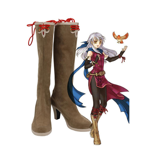 FE Micaiah Shoes Cosplay Fire Emblem: Radiant Dawn Micaiah Cosplay Boots High Heel Shoes Custom Made