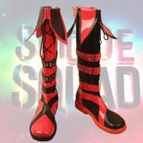 The Suicide Squad 2 Harley Quinn Cosplay Boots Red Shoes Custom Made Any Size for Boys and Girls
