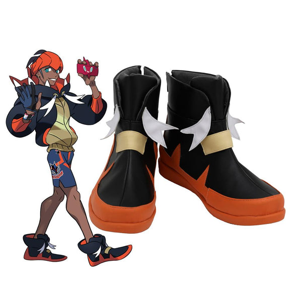 Raihan Shoes Cosplay Pokemon Sword & Shield Raihan Cosplay Boots Leather Shoes Custom Made