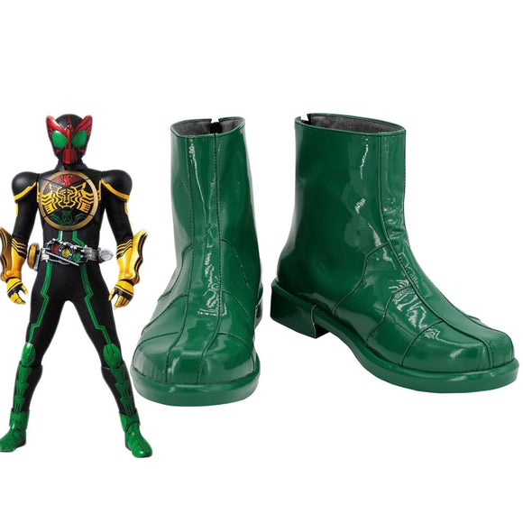 Masked Rider Kamen Rider OOO Cosplay Boots Green Shoes Custom Made Unisex