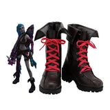 League of Legends Jinx Cosplay Boots Leather Shoes Game LOL Jinx Cosplay Shoes Custom Made Any Size