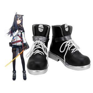 Arknights Texas Cosplay Boots Black Shoes Custom Made Any Size