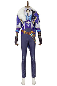 Genshin Impact Kaeya Alberich Cosplay Costume Kaeya Clothes Boots Full Set Custom Made Halloween Party Cosplay
