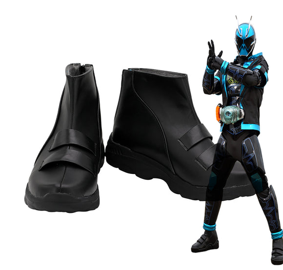 Masked Rider Specter Cosplay Boots Black Shoes Custom Made Kamen Rider Specter Cosplay Shoes Any Size