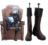 That Time I Got Reincarnated as a Slime Rimuru Tempest Great Demon Lord Cosplay Boots Customized Brown Shoes