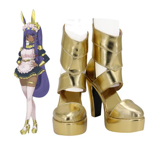 FGO Nitocris Boots Cosplay Fate Grand Order Nitocris Cosplay Golden Shoes High Heel Sandals Custom Made