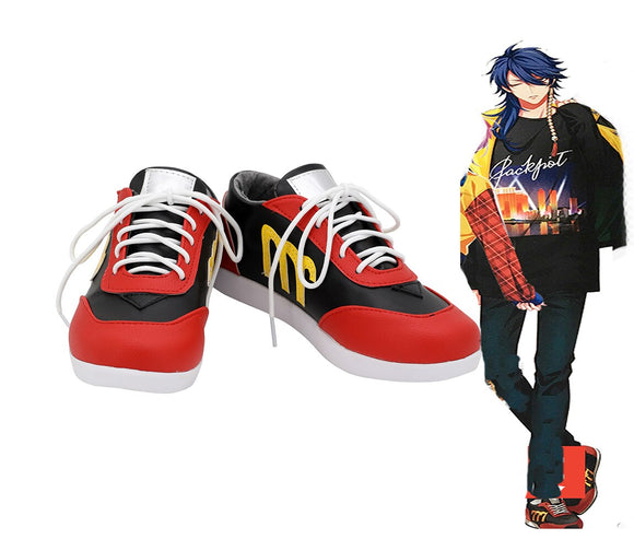 Hypnosis Mic Division Rap Battle Dice Arisugawa Cosplay Shoes Red Boots Custom Made Any Size