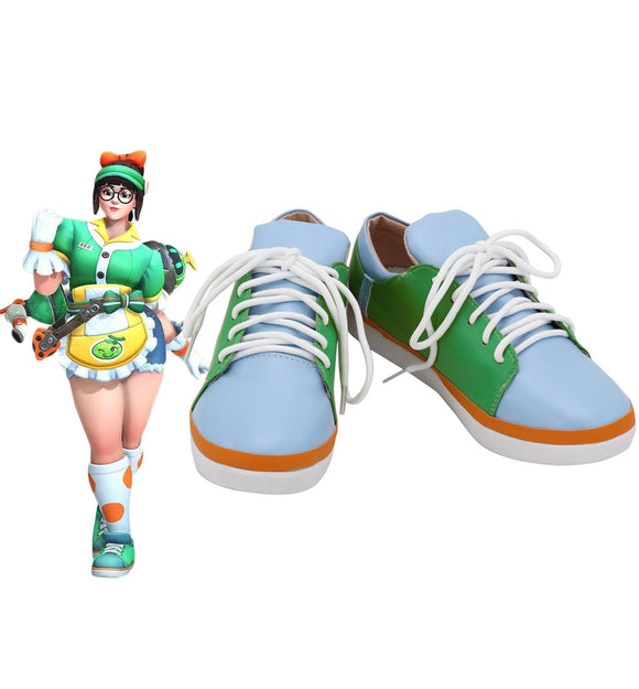 Overwatch OW Cosplay Mei Green Cosplay Shoes Honeydew Skin Mei Costume Accessories Cosplay Boots