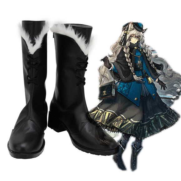 Arknights Pramanix Cosplay Boots Black Shoes Custom Made