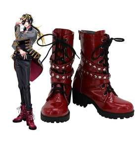 Hypnosis Mic Division Rap Battle Jyushi Aimono Cosplay Boots Red Shoes Custom Made Any Size