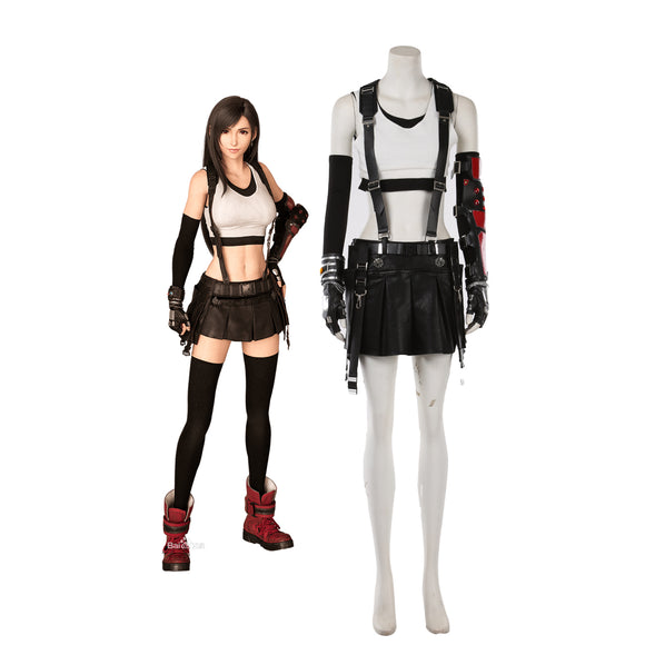 Final Fantasy VII Remake Tifa Lockhart Cosplay Costume Custom Made Full Set