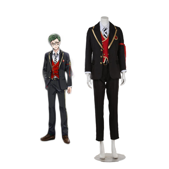 Disney Twisted-Wonderland Heartslabyul Trey Clover Cosplay Costume Full Set