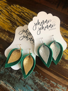 Lucky Charm Leather Earrings