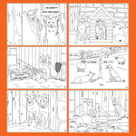 6 Sheepdogs themed childrens colouring pages - Kitchy & Co