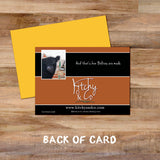 Belted galloway greetings card - And that's how belties are made - Kitchy & Co