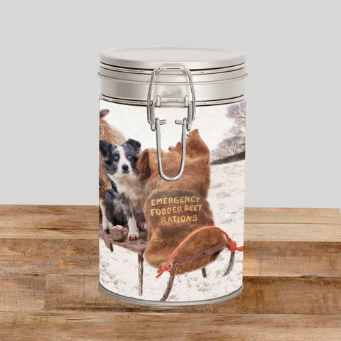 Blue Merle Border Collie Storage Tin - Emergency Rations - Kitchy & Co