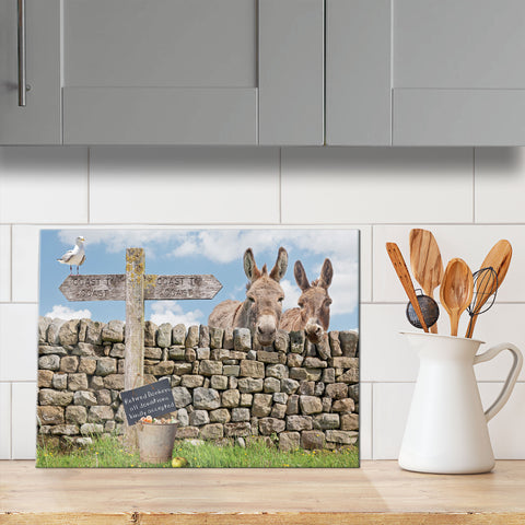Donkey glass chopping board - Dandy & Buttercup - Kitchy & Co