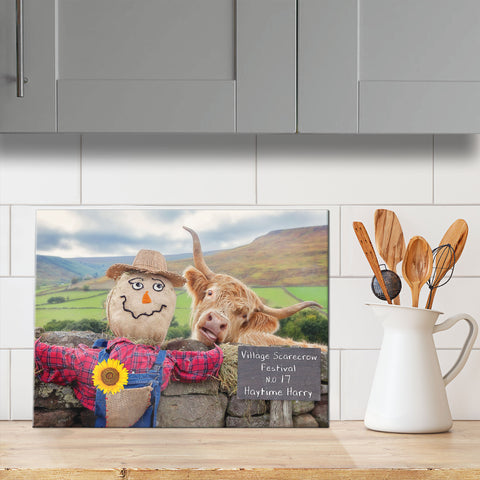 Highland cow chopping board - Village scarecrow festival - Kitchy & Co