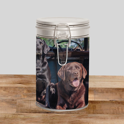 Labrador Storage Tin - Ready Willing and Able - Kitchy & Co