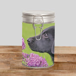 Labrador Puppy Storage Tin - Take time to smell the flowers - Kitchy & Co