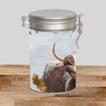 Longhorn cow Storage Tin - Call of the Fall - Kitchy & Co