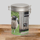 Swaledale Sheep & Hens Storage Tin - You've got to be Yolking - Kitchy & Co