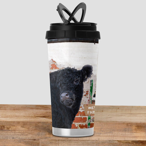 Beltie Cow Travel Mug - And that's how Belties are made - Kitchy & Co