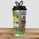 Valais Blacknose Sheep Travel Mug - We Welcome Ewe - Kitchy & Co
