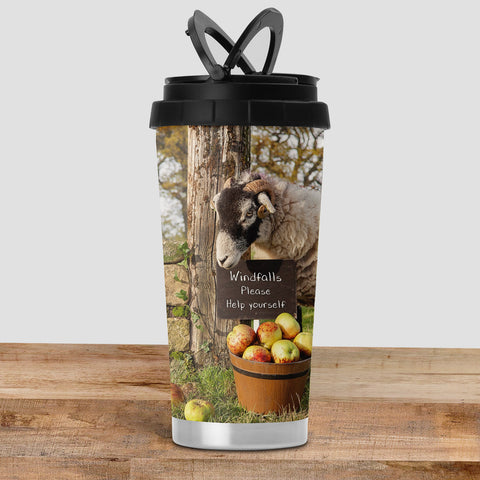 Swaledale Sheep Travel Mug - Scrumping Apples - Kitchy & Co