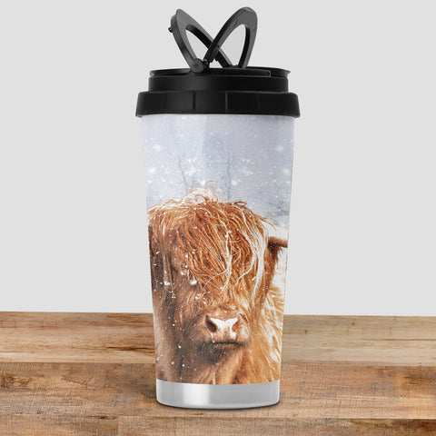 Highland Cow Travel Mug - It's cold outside - Kitchy & Co