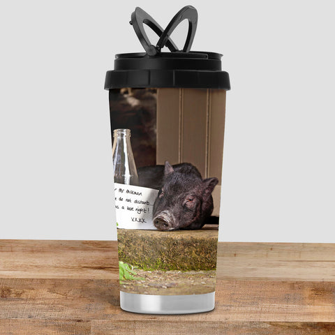 Pig Travel Mug - Please do not disturb - Kitchy & Co