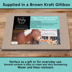 Shetland pony Glass chopping board - Try before you buy - Kitchy & Co