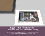 Working Sheepdog Print - Shepherds new helper - Kitchy & Co