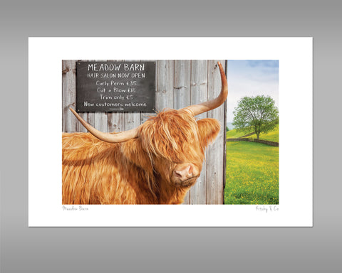 Highland Cow Print - Meadow Barn - Kitchy & Co