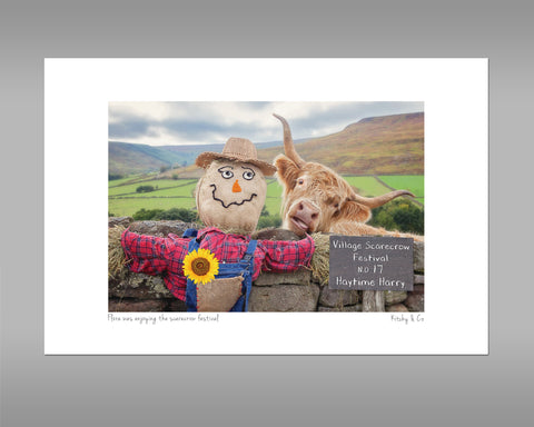 Highland Cow Print - Village Scarecrow festival - Kitchy & Co
