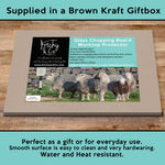 Herdwick sheep glass chopping board - Why walk when Ewe can take the bus - Kitchy & Co