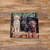 Labrador Glass drinks Coaster - Ready Willing and Able - Kitchy & Co