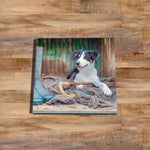 Working Sheepdog Glass drinks Coaster - Shepherds new helper - Kitchy & Co