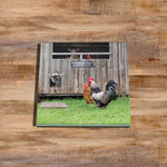 Lambs and Henhouse Glass drinks Coaster - Ewe've got to be yolking - Kitchy & Co
