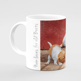 Jack Russell Terrier Pups Mug - New laces for old boots - Kitchy & Co