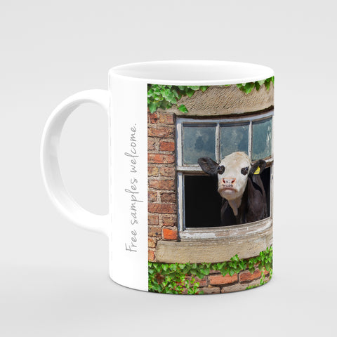 Hereford Cow Mug - Free samples Welcome - Kitchy & Co